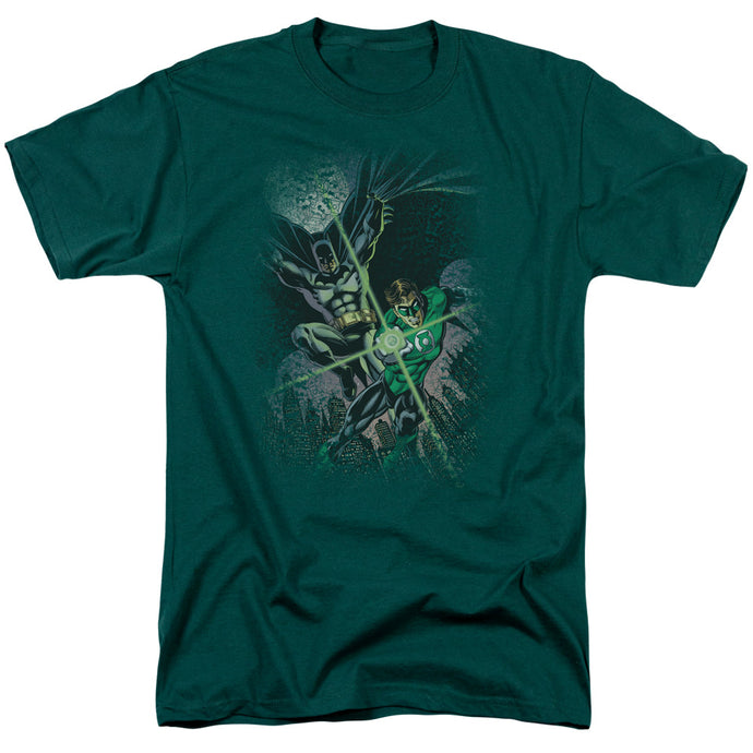 Justice League Brave & Bold #1 Mens T Shirt Hunter Green