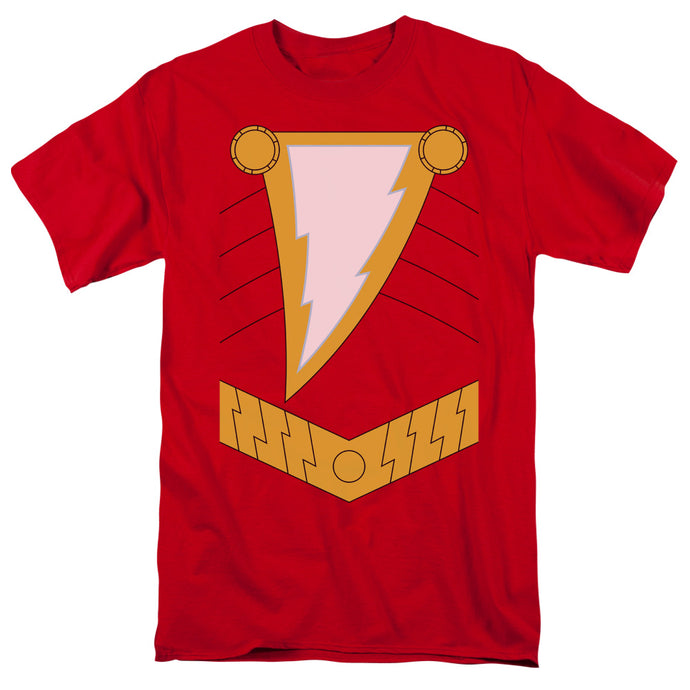 Justice League Shazam Mens T Shirt Red