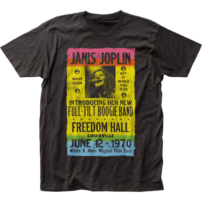 Janis Joplin Freedom Hall Mens T Shirt Black