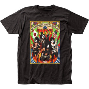 KISS Japan Tour Mens T Shirt Black