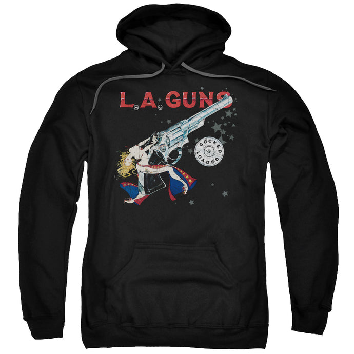L.A. Guns Cocked And Loaded Mens Hoodie Black
