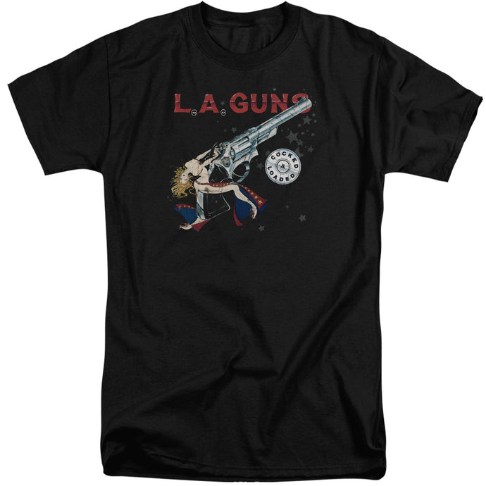 L.A. Guns Cocked And Loaded Mens Tall T Shirt Black