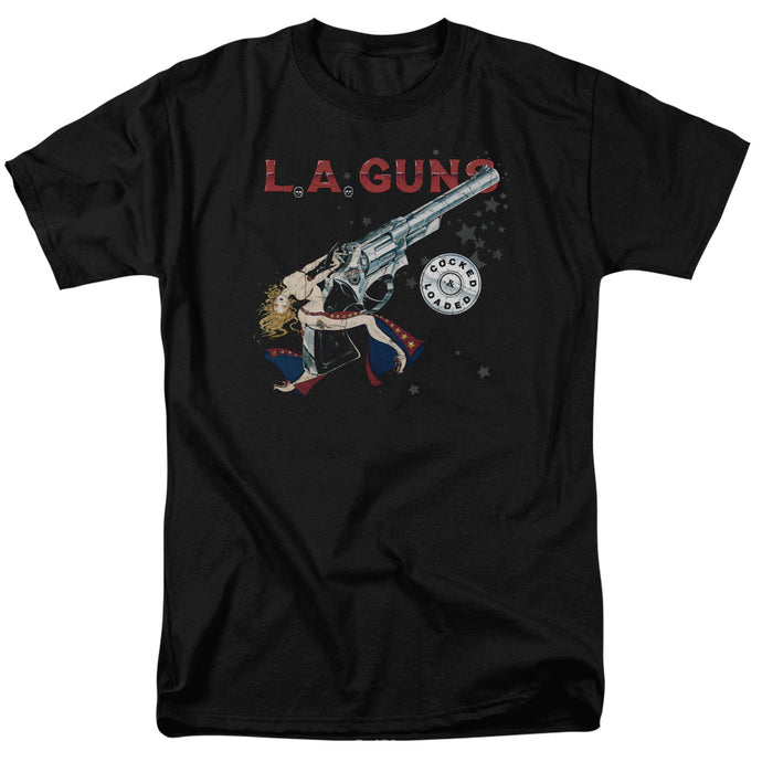 L.A. Guns Cocked And Loaded Mens T Shirt Black