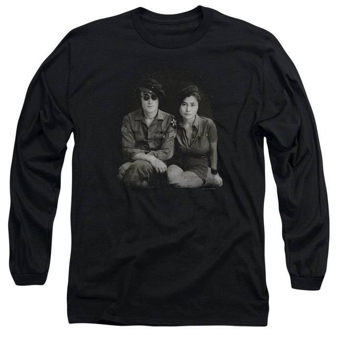 John Lennon Beret Mens Long Sleeve Shirt Black