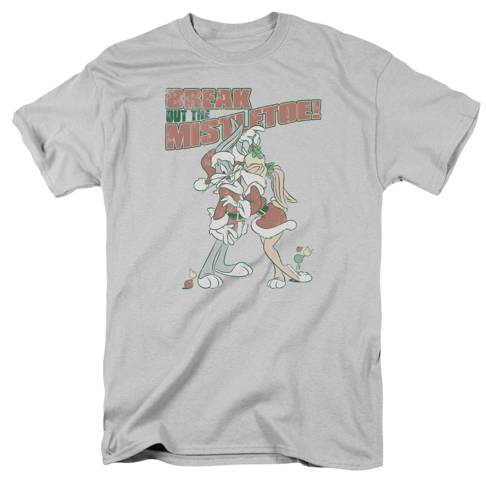 Looney Tunes Mistletoe Mens T Shirt Silver