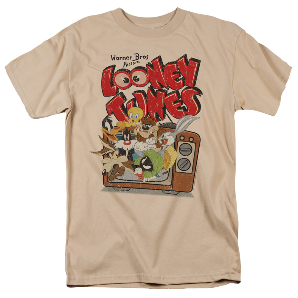 Looney Tunes Saturday Mornings Mens T Shirt Sand