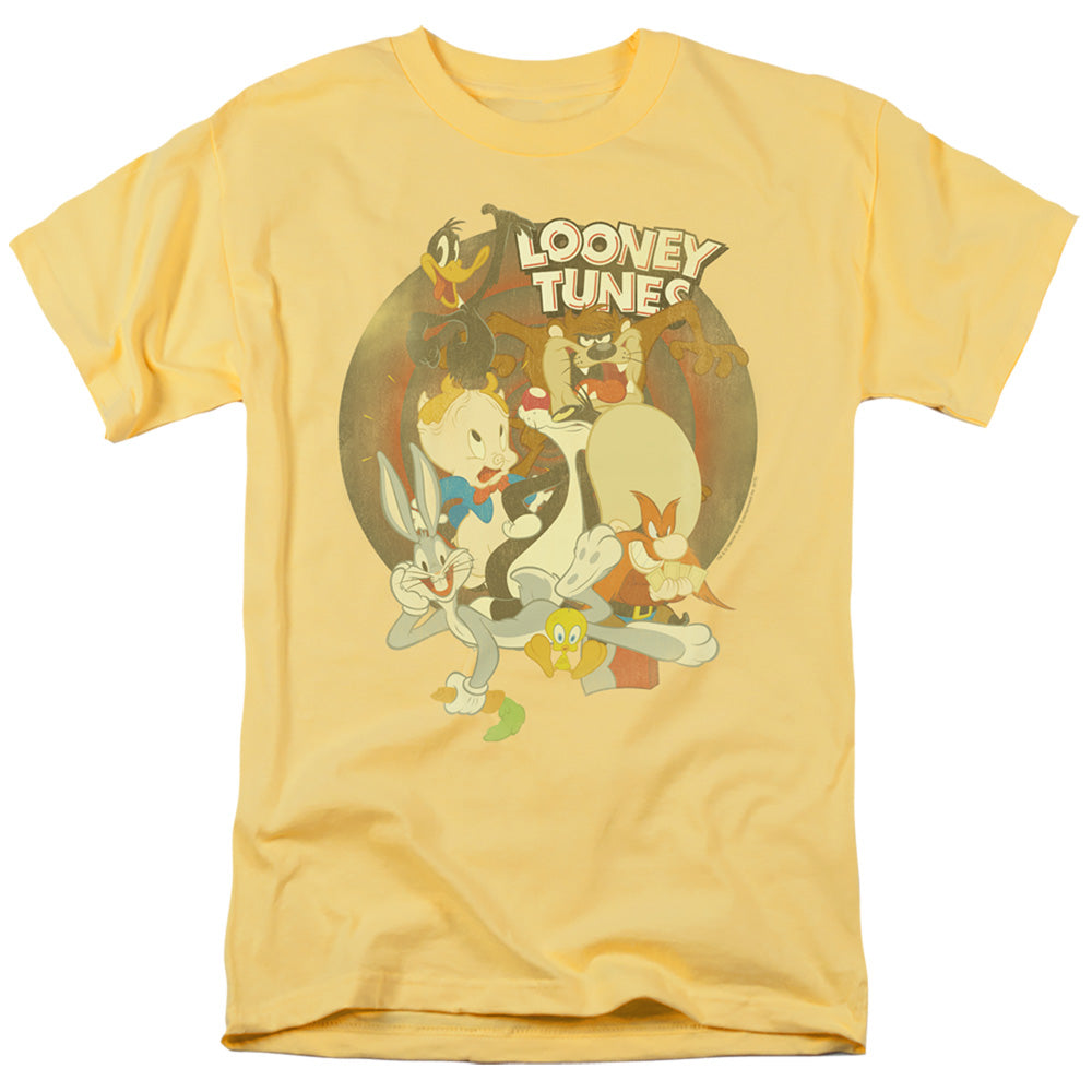 Looney Tunes Gangs All Here Mens T Shirt Yellow