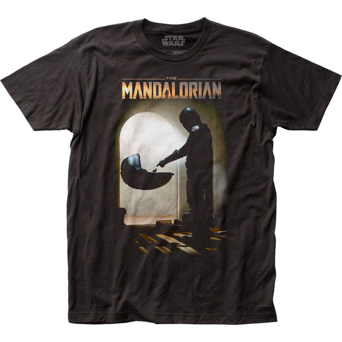 Star Wars The Mandalorian Mando Meets The Child Mens T Shirt Black