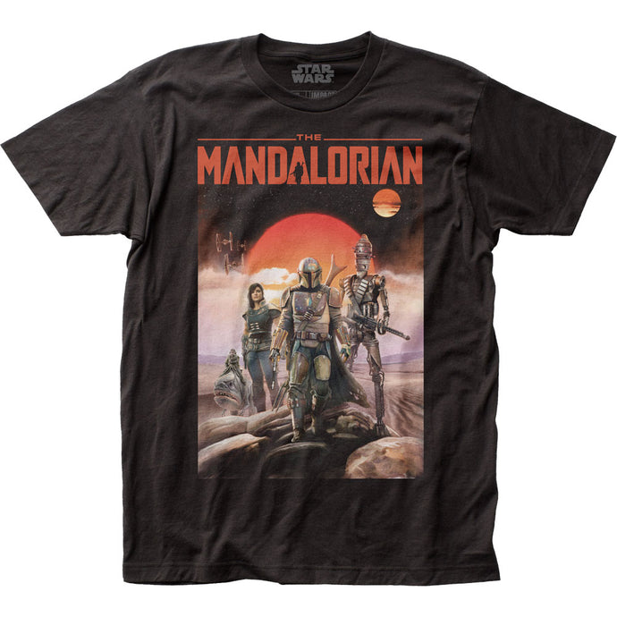 Star Wars The Mandalorian Mandalorian Poster Mens T Shirt Black