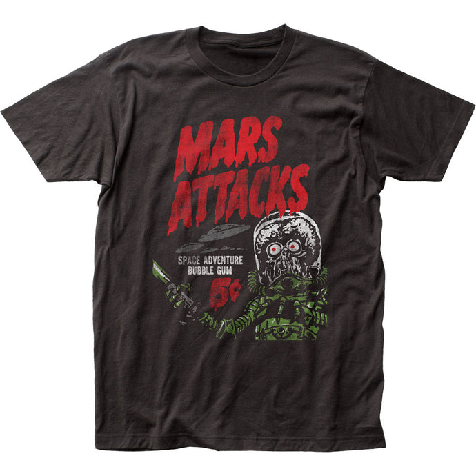 Mars Attacks Space Adventure Mens T Shirt Black