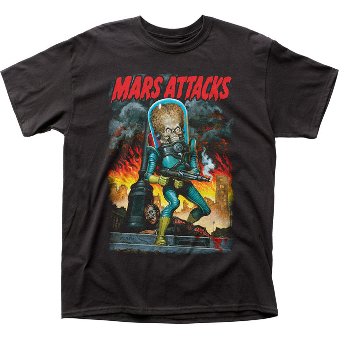 Mars Attacks City Destruction Mens T Shirt Black