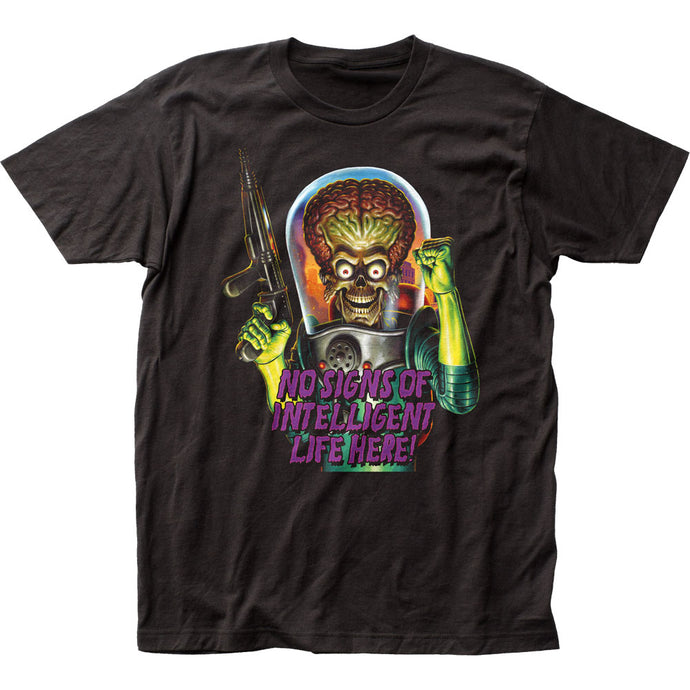 Mars Attacks Intelligent Life Mens T Shirt Black