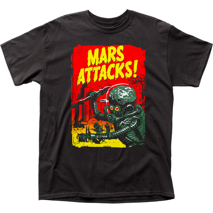 Mars Attacks Gradient Poster Mens T Shirt Black
