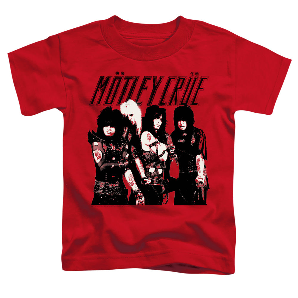 Motley Crue Group Toddler Kids Youth T Shirt Red