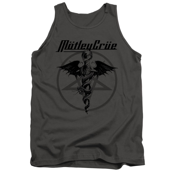Motley Crue Dr. Devil Mens Tank Top Shirt Charcoal