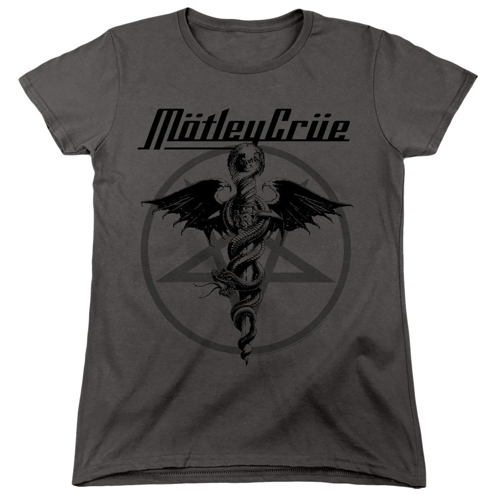 Motley Crue Dr. Devil Womens T Shirt Charcoal