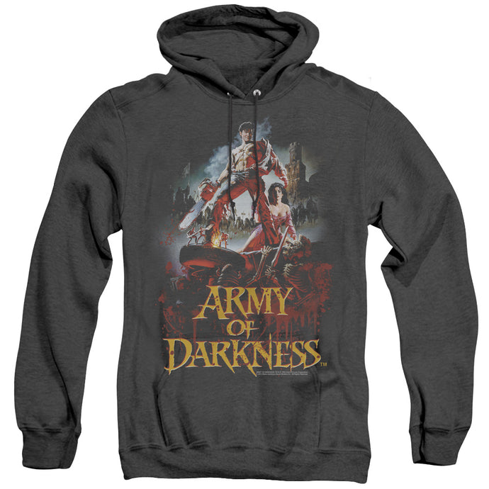 Army Of Darkness Bloody Poster Heather Mens Hoodie Black