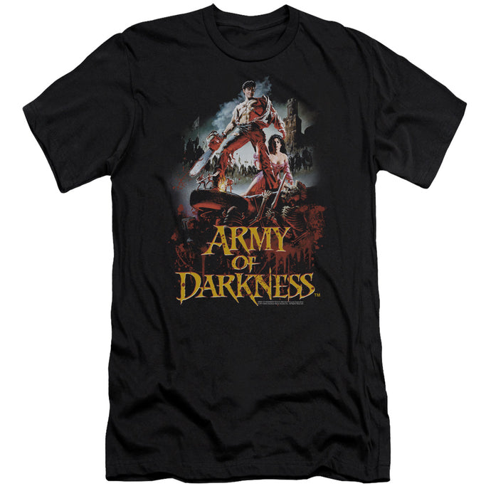 Army Of Darkness Bloody Poster Slim Fit Mens T Shirt Black