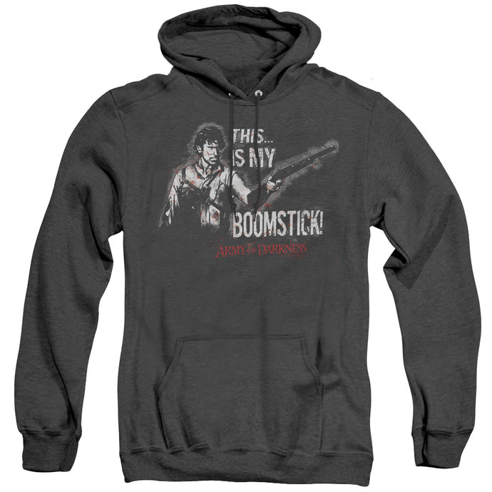 Army Of Darkness Boomstick Heather Mens Hoodie Black