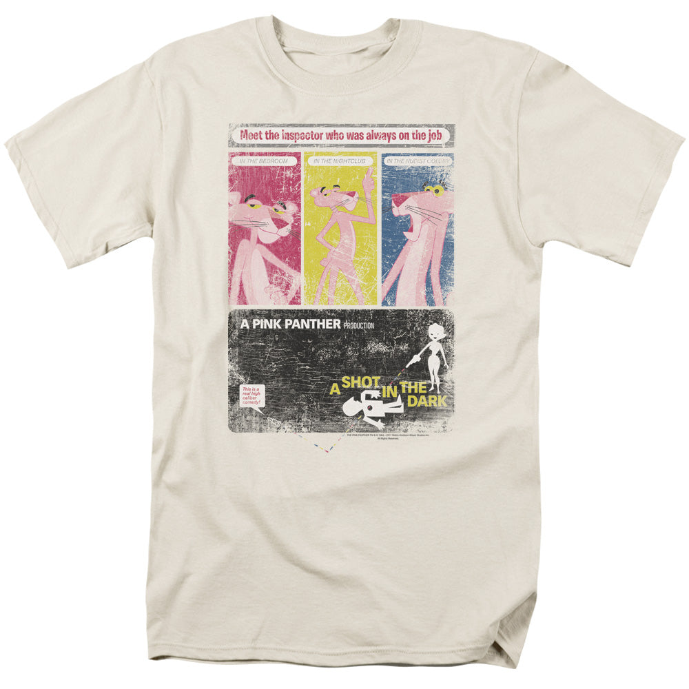 Pink Panther Shot In The Dark Mens T Shirt Cream