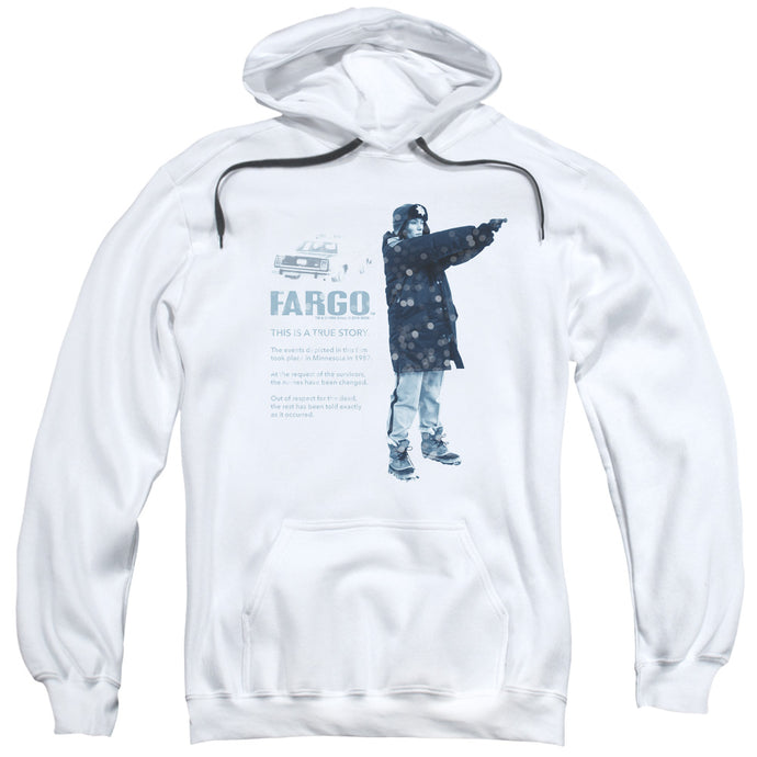 Fargo This Is A True Story Mens Hoodie White