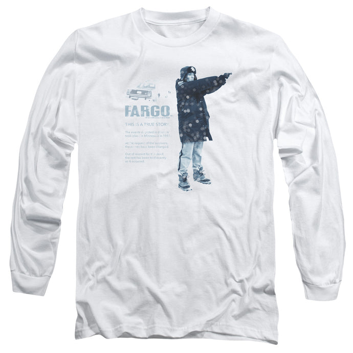 Fargo This Is A True Story Mens Long Sleeve Shirt White