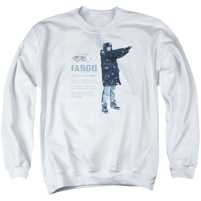 Fargo This Is A True Story Mens Crewneck Sweatshirt White