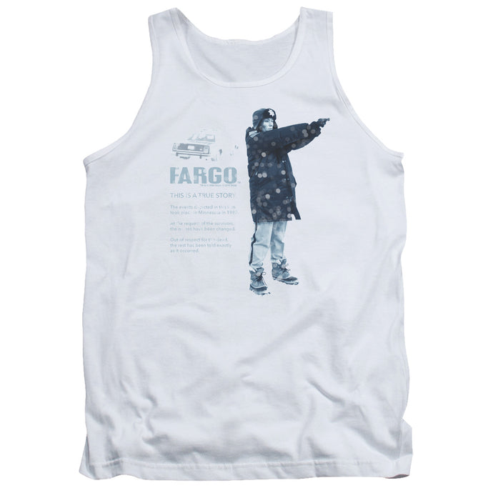 Fargo This Is A True Story Mens Tank Top Shirt White