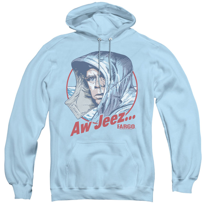 Fargo Aw Jeez Mens Hoodie Light Blue