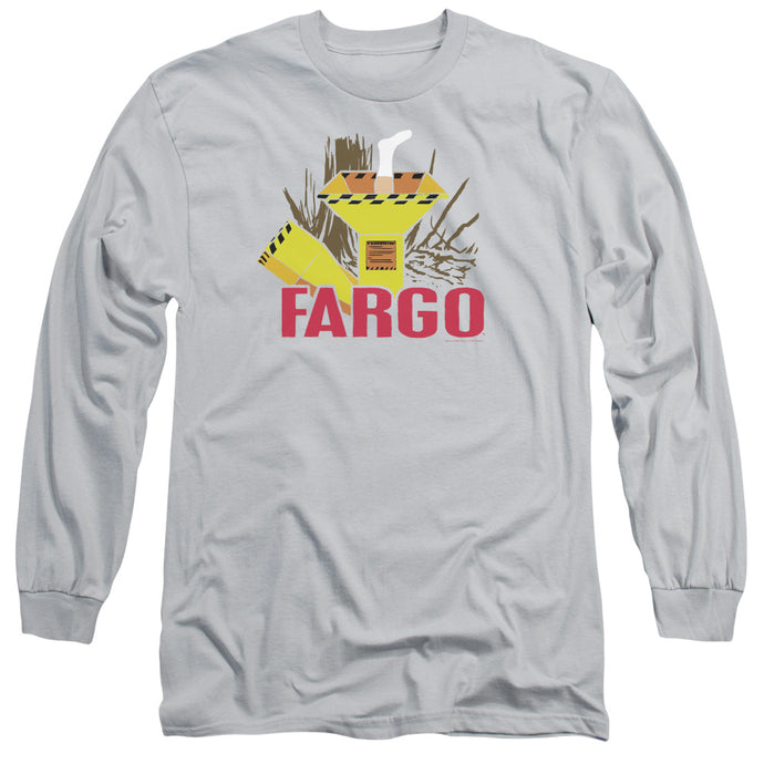 Fargo Woodchipper Mens Long Sleeve Shirt Silver