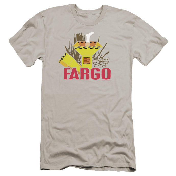 Fargo Woodchipper Premium Bella Canvas Slim Fit Mens T Shirt Silver