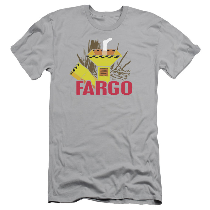 Fargo Woodchipper Slim Fit Mens T Shirt Silver