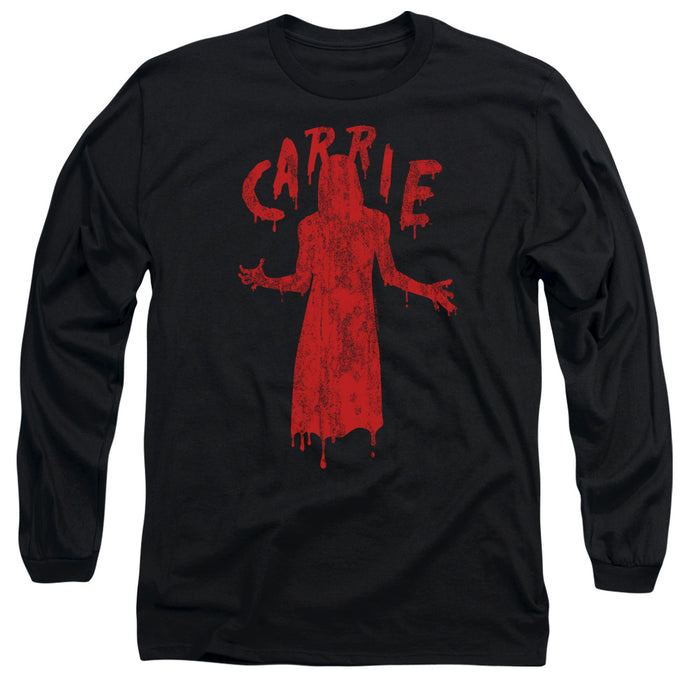 Carrie Silhouette Mens Long Sleeve Shirt Black