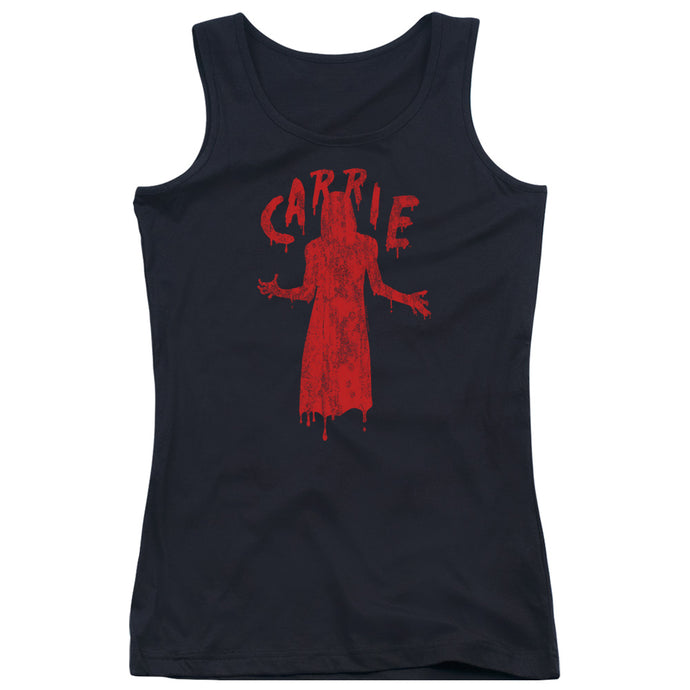 Carrie Silhouette Womens Tank Top Shirt Black