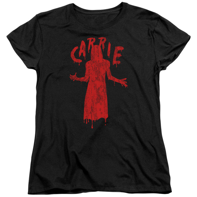 Carrie Silhouette Womens T Shirt Black