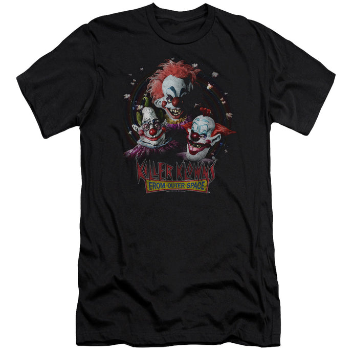 Killer Klowns From Outer Space Killer Klowns Premium Bella Canvas Slim Fit Mens T Shirt Black