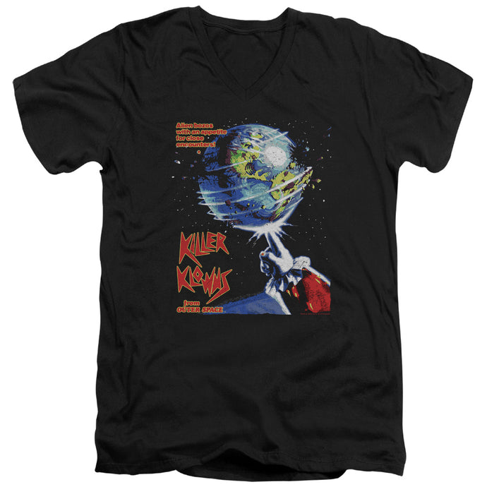 Killer Klowns From Outer Space Invaders Mens Slim Fit V-Neck T Shirt Black