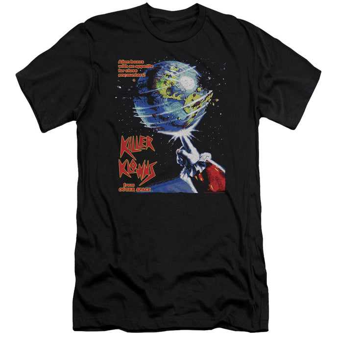 Killer Klowns From Outer Space Invaders Premium Bella Canvas Slim Fit Mens T Shirt Black