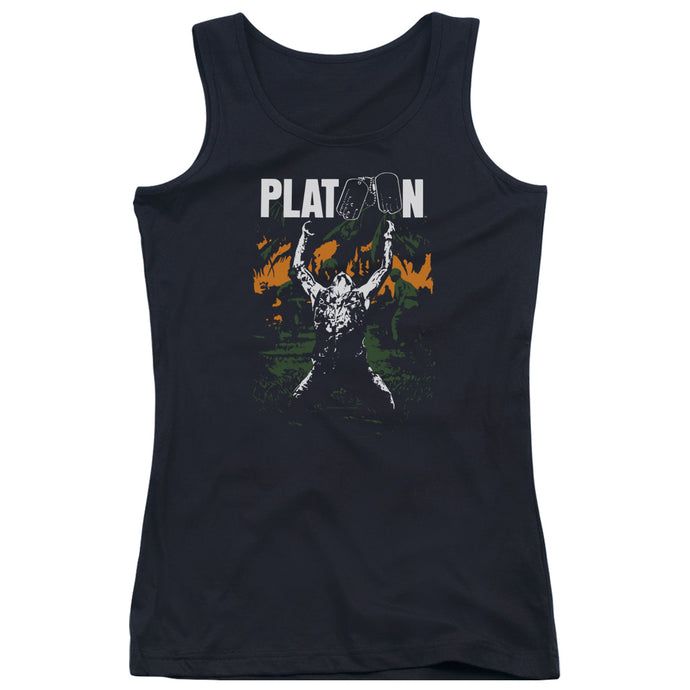 Platoon Graphic Womens Tank Top Shirt Black