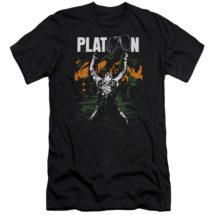Platoon Graphic Premium Bella Canvas Slim Fit Mens T Shirt Black