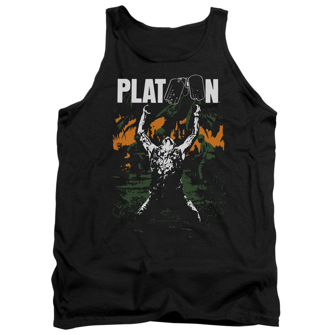 Platoon Graphic Mens Tank Top Shirt Black