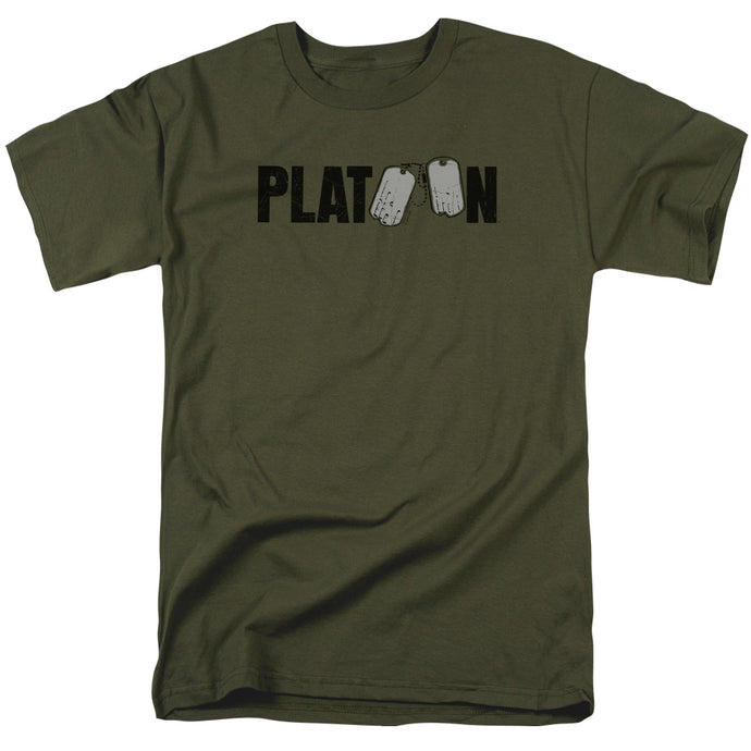 Platoon Logo Mens T Shirt Military Green