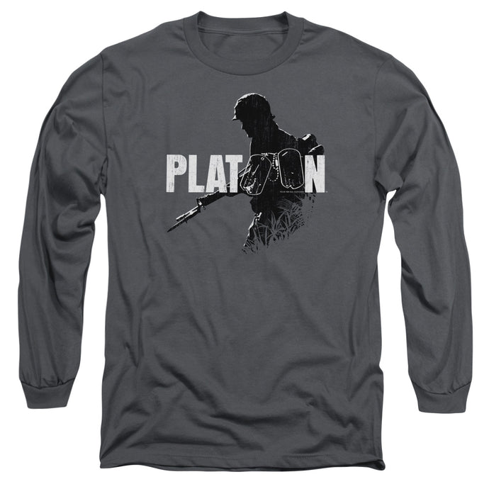 Platoon Shadow Of War Mens Long Sleeve Shirt Charcoal