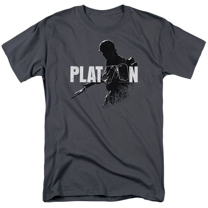 Platoon Shadow Of War Mens T Shirt Charcoal
