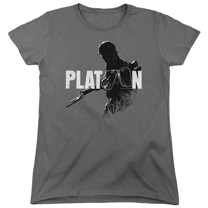 Platoon Shadow Of War Womens T Shirt Charcoal