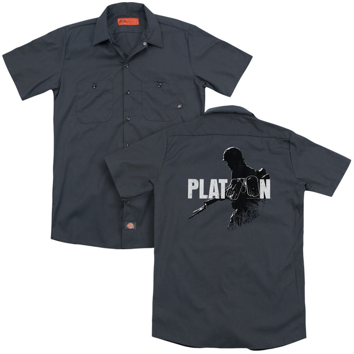 Platoon Shadow Of Warback Print Mens Work Shirt Charcoal