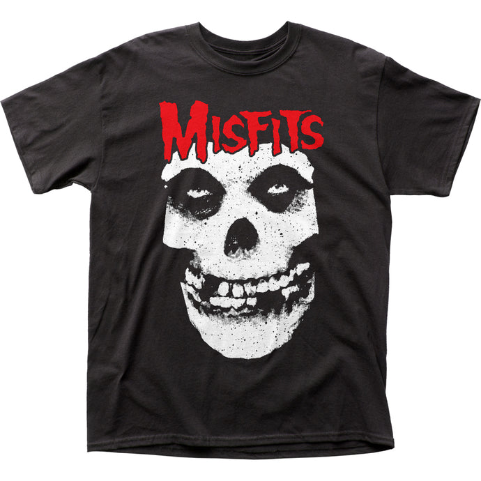 The Misfits Red Logo Mens T Shirt Black