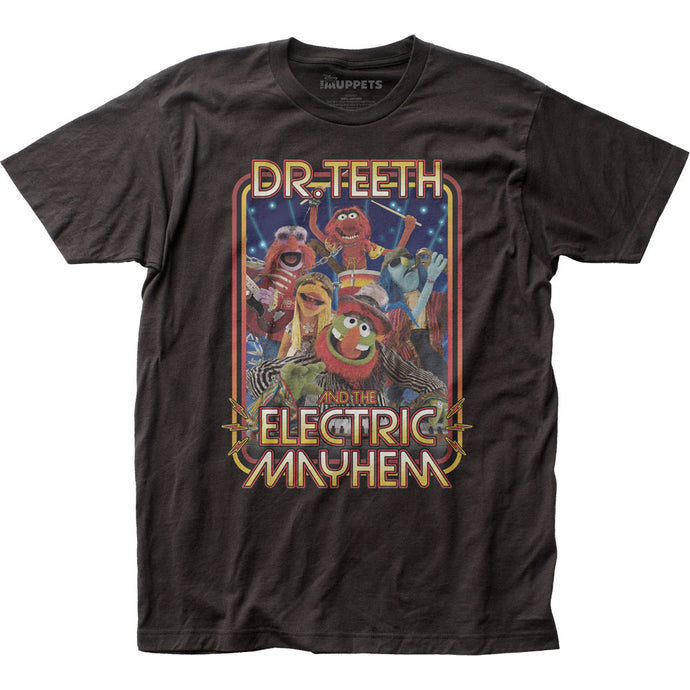 The Muppets Dr Teeth Band Mens T Shirt Black