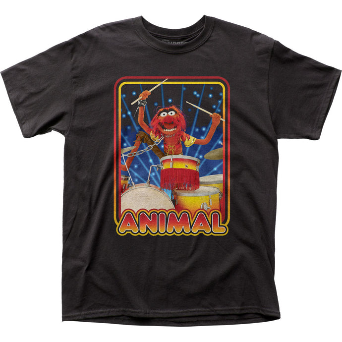 The Muppets Animal Mens T Shirt Black
