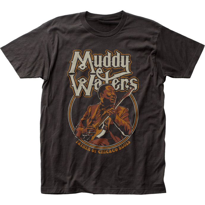 Muddy Waters Father of Chicago Blues Mens T Shirt Black